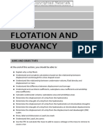 Flotation and Buoyancy