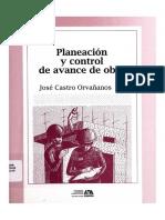 Planeacion y Control de Avance de Obra ALTO Azcapotzalco