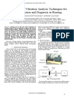 A Summary of Vibration Analysis Techniques for Fault Detection and Diagnosis in Bearing