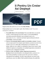 10 Reguli Pentru Un Creier Mai Destept