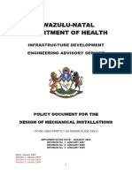 Kwazulu Natal Dept of Health Mechanical Standard Specification