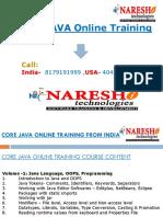 Core Java Tutorial Naresh Technologies Pdf