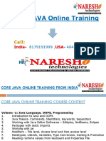 Online Core Java Training in India From Experts