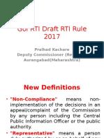 Goi Rti Draft Rti Rule 2017