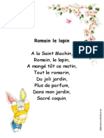 Comptine Romain Le Lapin