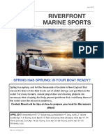 Riverfront Marine Sports Newsletter -- April 2017