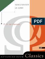 Superconductivity of Metals and Alloys----- Pierre Gilles de Gennes