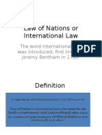 Intrrnational Law