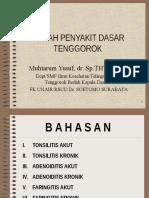THT 02 - Kuliah Dr Yusuf. Adenoid & Tonsilitis 2011
