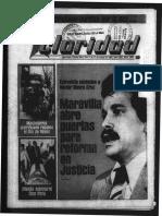 Edicion Claridad Numero 1667 Del 11 Ene 1985