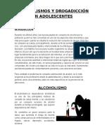 Alcoholismos y Drogadicción en Adolescentes