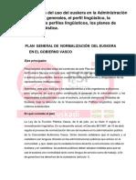 16.– Normalización Del Uso Del Euskera