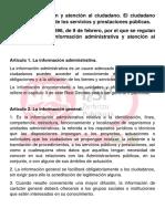 La Información y Atención Al Ciudadano.