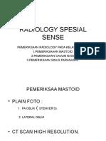 Radiology Spesial Sense.