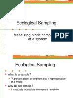 Ecological Sampling (2)