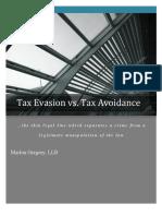 Tax Evasion v. Tax Evasion
