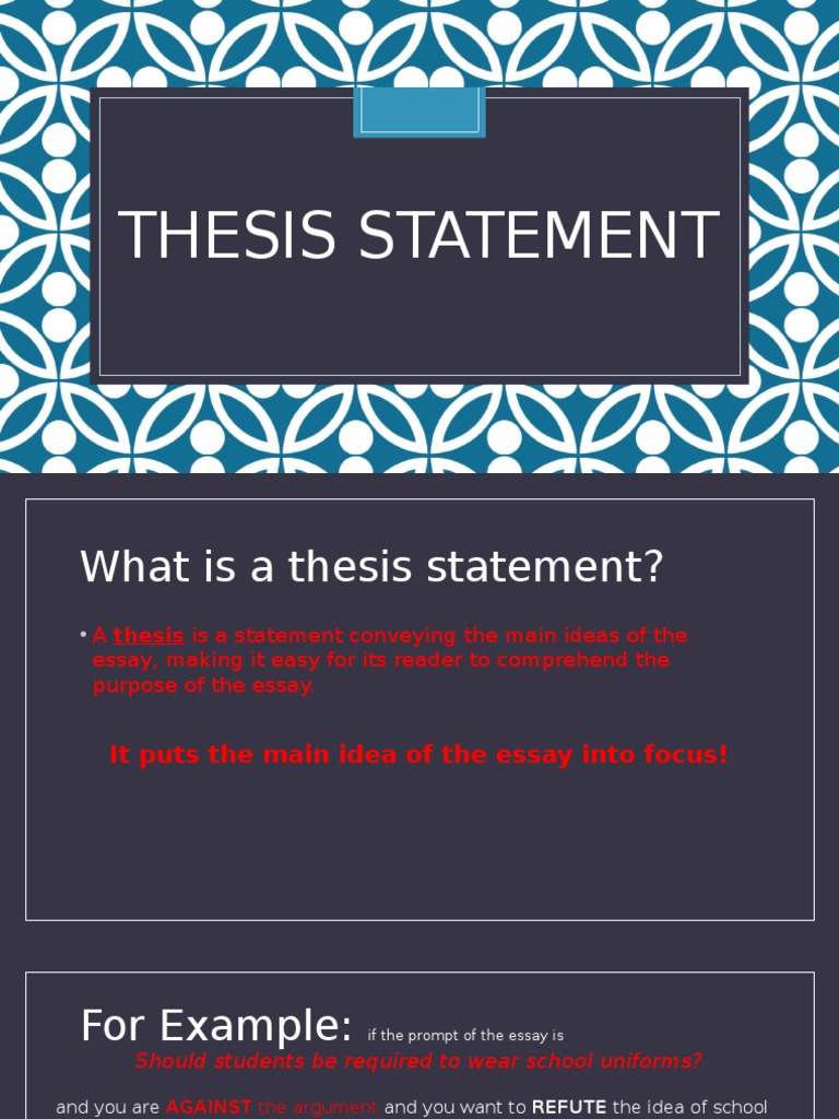 Thesis statement for equal pay