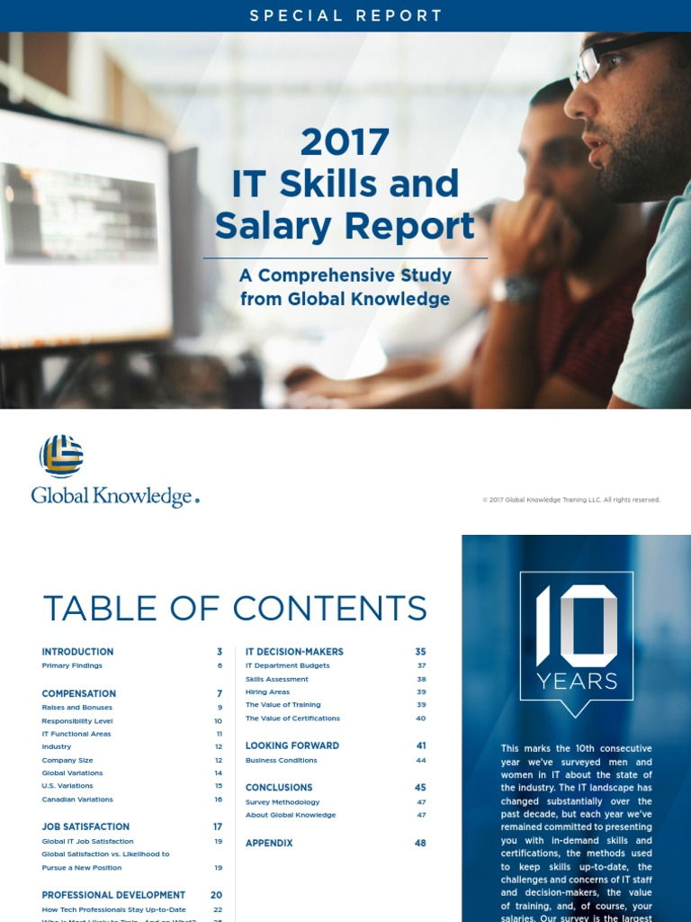 2017 Global Knowledge Salaryreport Salary Professional Certification