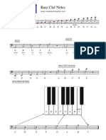 Worksheet 0002 Bass Clef Notes