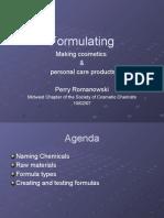 Formulating Making Cosmetics P Romanowski