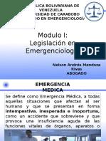Legislación en Emergenciologia I