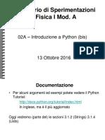 Lab 02a - Introduzione a Python - Bis