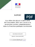 Rapport Protection Sociale Complémentaire CSFPT