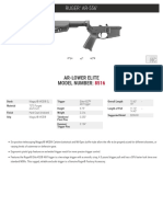 Ruger AR-Lower Elite Spec Sheet