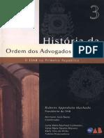 Volume 03 - Historia Da OAB - 0 I0AB Na Primeira Republica