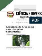 A História Da Arte Como Uma Disciplina Humanística