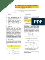 Simulacion de Serie de Fourier en Matlab