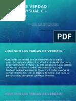 TABLAS DE VERDAD PARA C++
