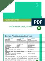 faktor aktivitas
