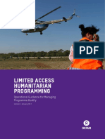 Limited Access Humanitarian Programming