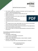 ANCINE - Lista de Documentos -  Pessoa juridica