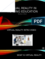 MN 534 Virtual Reality in Nursing Education Ppt