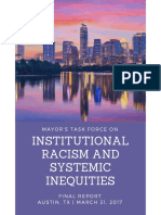 Mayor's Task Force on Institutional Racism & Systemic Inequities- April 4, 2017