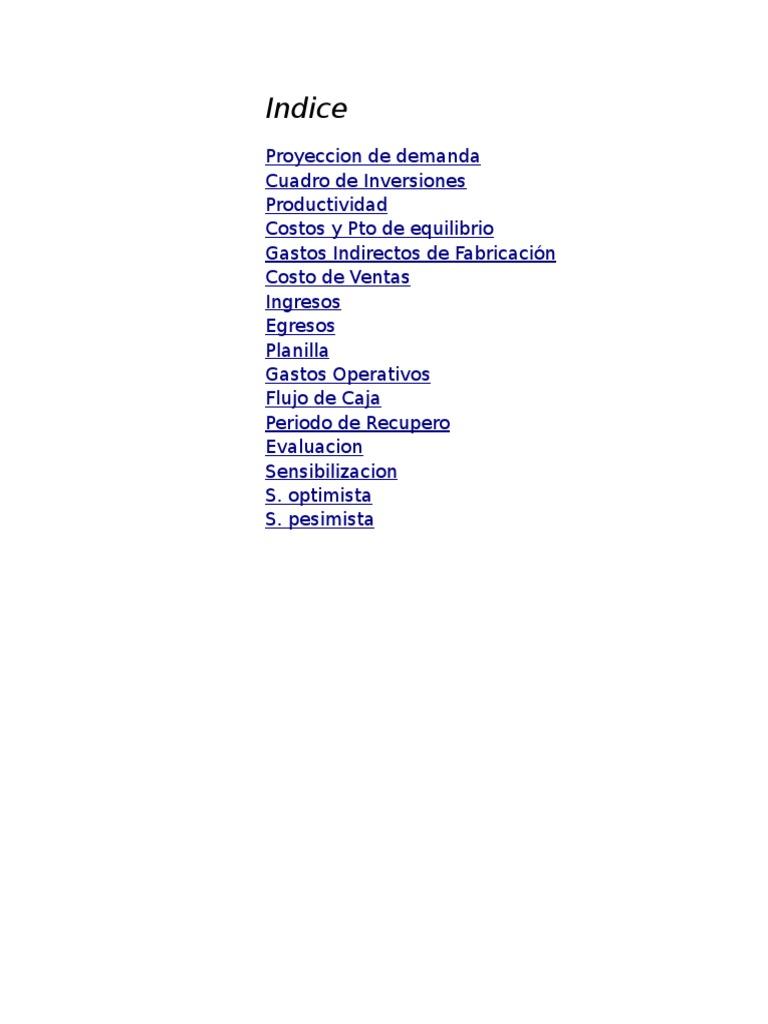 MODELO Plantilla Costos Del Proyecto