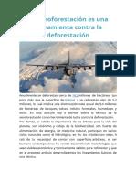 La Aeroforestación Es Una Herramienta Contra La Deforestación