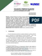 Artigo Salvaguardas Sociais e Ambientais Do SISA - Relato Da Experiencia No Acre ANAIS VI SIDR-UNISC