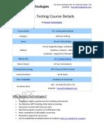 ETL Testing Besant Technologies Course Syllabus