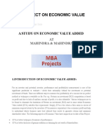 Mba Project on Economic Value Added11