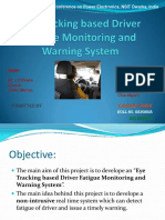Eye Tracking Based Driver Fatigue Monitoring and Warning ppt