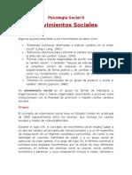 Movimientos Sociales Psicologia Social II