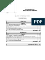 Plan de Estudio Diplomado en Orientacion y Tutoria