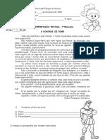 Aval de Interpretação Textual-A VONTADE de TOMÉ - 3ª SÉRIE