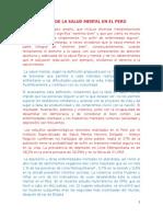 Estado de La Salud Mental en El Peru