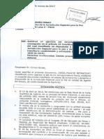 Carta Radicada Secretario JEP Sometimiento