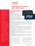 Avaya Ethernet Routing Switch 4800 Series