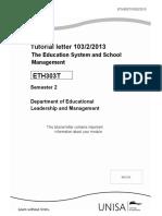 ETH 303TMemorandum & Exam